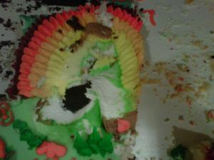 Frank the Frosting Turkey is dead