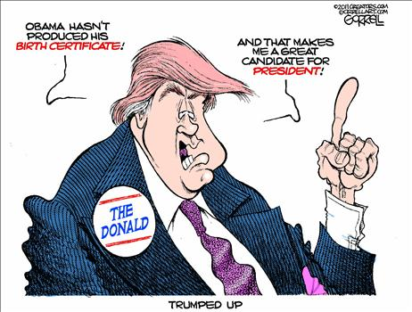 The Donald's Credentials Cartoon